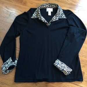 Susan Graver Leopard Layered Top